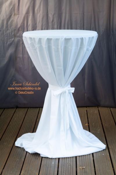 Stehtisch Husse aus Polyester mit Schleife