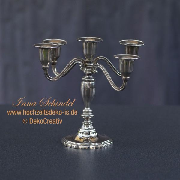 Kerzenleuchter_silber_metal_20cm