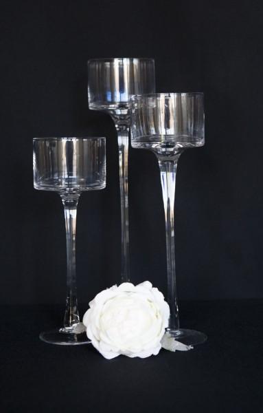 Vase. Glas. Set.