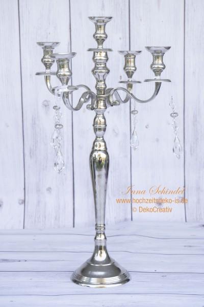 Kerzenleuchter 5-armig. Silber. H80cm